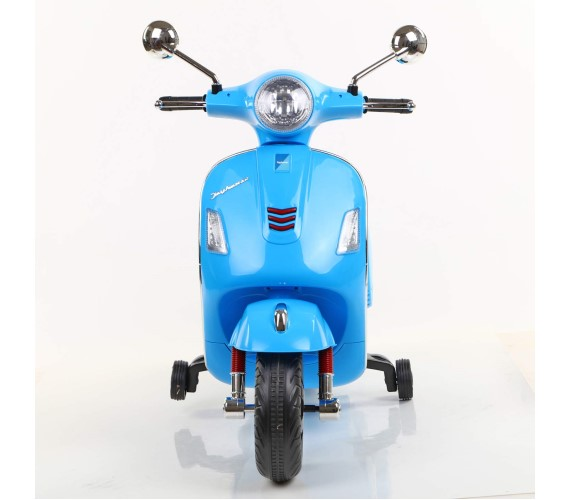 Vespa Rechargeable Battery Operated Ride-on Scooter for Kids (3 to 7 Years) Double Batteries.