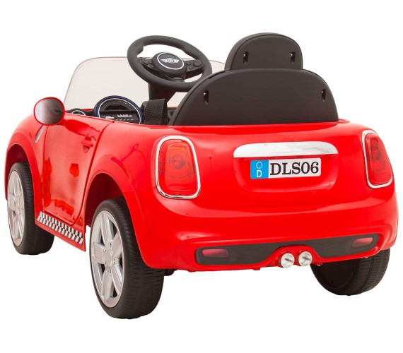 12V MINI Cooper Battery Operated Car For Kids - DLS06 Red