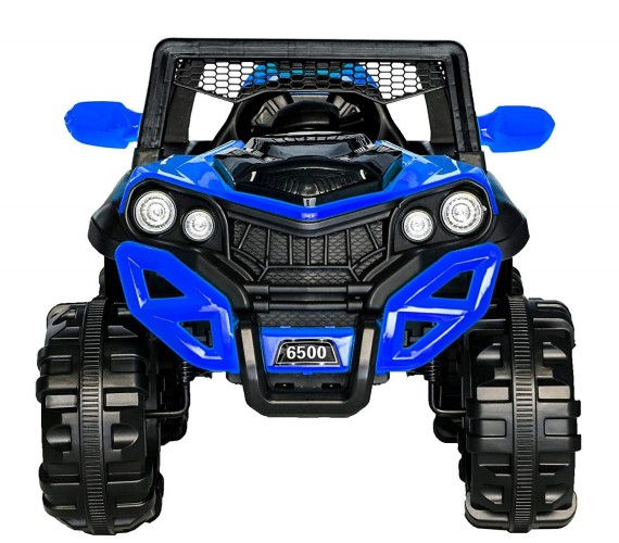 6500 Battery Operated Ride on Jeep with 12V Electric Jeep, Music, Lights and Remote Control (Blue)
