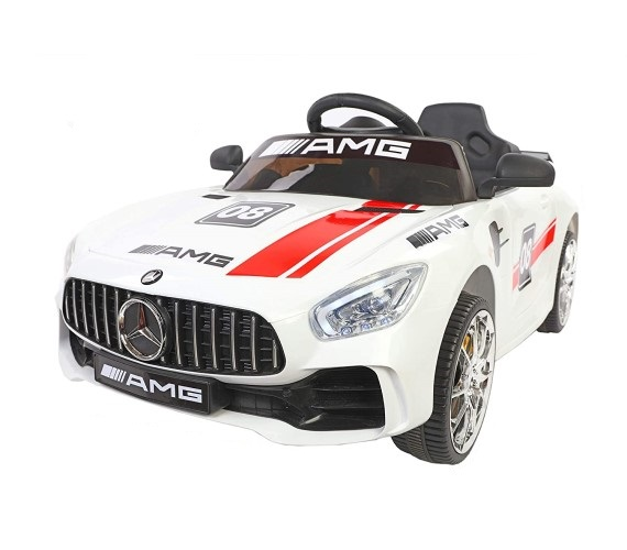 Futuristic Benzy AMG Battery Operated Ride On Car For Kids (1 to 5 yrs) White