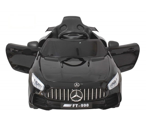 FT-998 AMG 12V Battery Operated Ride On Car For Kids (2 to 5 yrs) with Remote Control, Music System(Black)