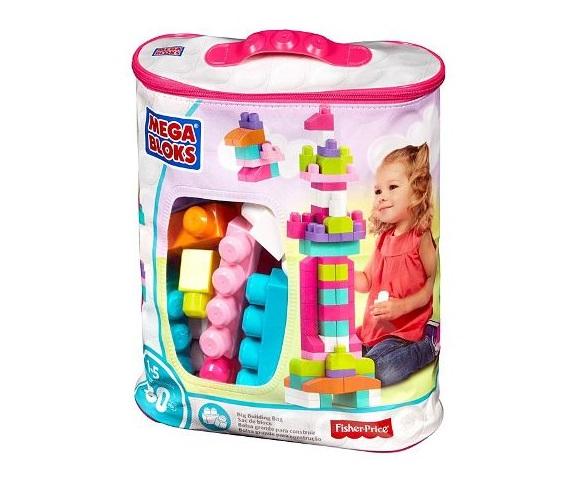 Fisher-Price Mega Bloks Big Building Bag for girls (Pink)