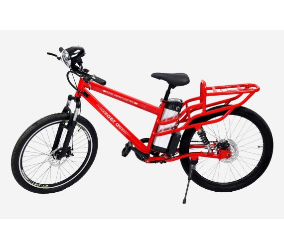 PP INFINITY 48V Electric Bicycle For Adults, 48V Battery Bicycle For Adults With Front/Rear Disk Brakes And Head Light (Frame Size 20) 2 Years Warranty-Red