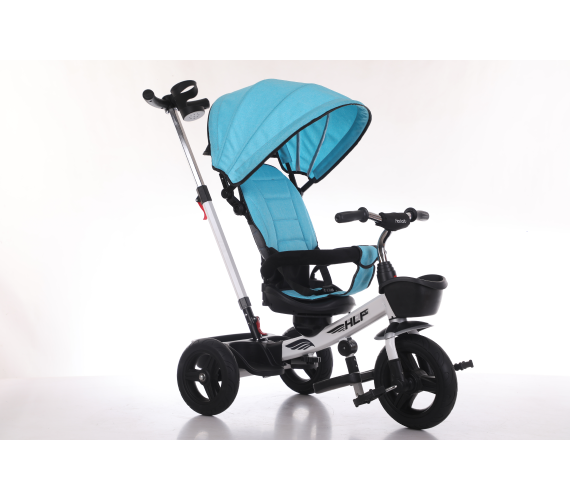 Canopy Tricycle For Toddler with Parental Control Handle - Age 8 months to 4 years