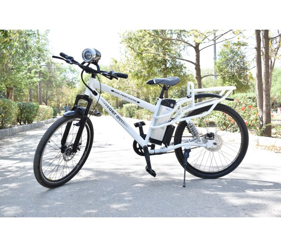 PP INFINITY 48V Electric Bicycle For Adults, 48V Battery Bicycle For Adults With Front/Rear Disk Brakes And Head Light (Frame Size 20) 2 Years Warranty-White
