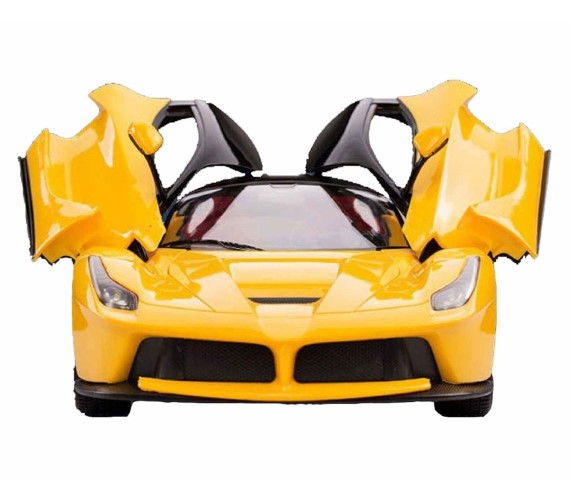 PP INFINITY Ferrari Remote Control Car with Openable Door - RC Car for kids (Yellow)