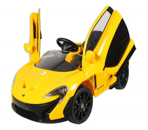 McLaren Electric Rideon Car For Kids 12V , Battery Operated Rideon Car For Kids Age 2 to 6 (yellow)