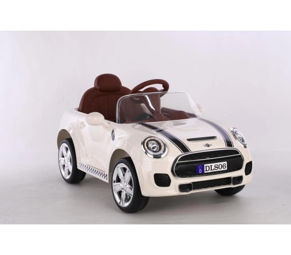 Mini Cooper Battery Operated Ride On Car For Kids (White)