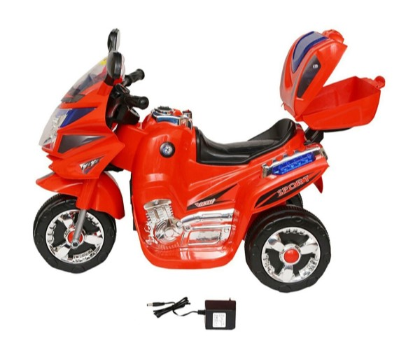Mini Police Bike For Kids Battery Operated Ride On Bike (Red)