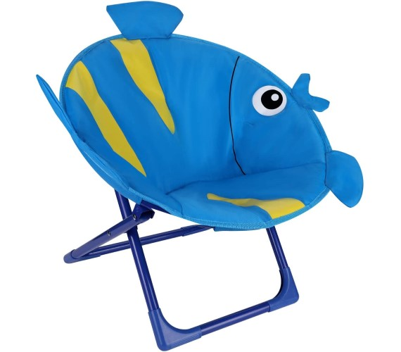 PP INFINITY Fish Shape Moon Chair For Kids Baby Moon Chair-(Blue)
