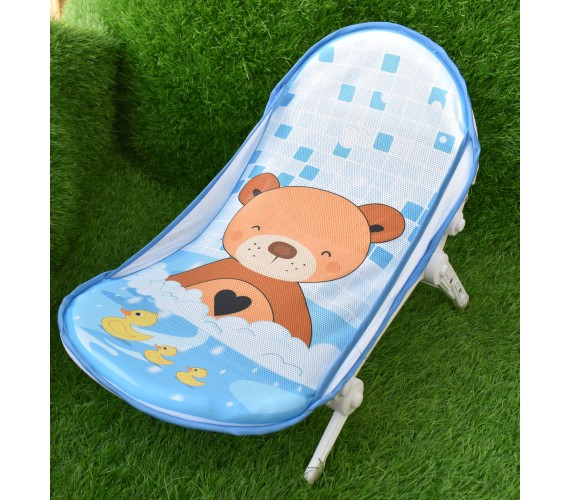 PP INFINITY Baby Bather for New Born Baby Bath Support Seat Bath Sling Soft mesh Support for Comfortable Bath & Foldable(Sky Blue)