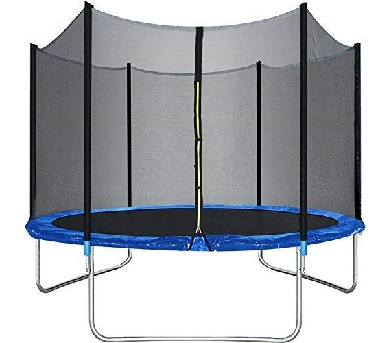 6Ft Trampoline with Enclosure net (capacity 100kg) Kids Jumping Mat, Black