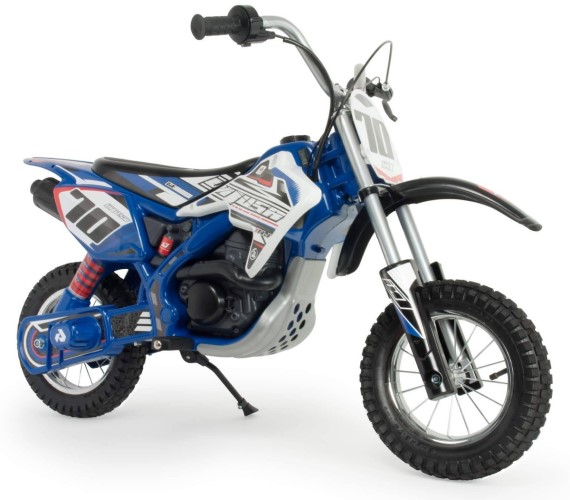 MOTO X-TREME FIGHTER 24V Battery Operated Ride On Bike For Kids With Hand Accelerator(Made in Spain)-Blue