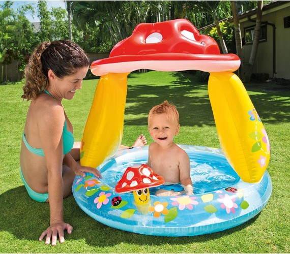 PP INFINITY Mushroom Kid's Swimming Pool for Ages 1-3(Multicolor)