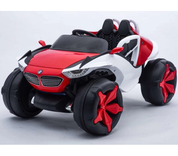 BMW 12V Battery Operated Ride On Jeep For Kids With Remote Control And Music System Model  XJL-688(Red)