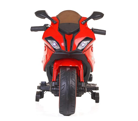 Kids BMW S1000RR Super bike Rechargeable Battery Operated Ride on Bike for Kids, Hand Accelerator(3 to 8 years) Red