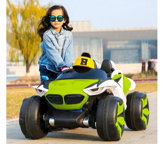 BMW 12V Battery Operated Ride On Jeep For Kids With Remote Control And Music System Model  XJL-688(Green)