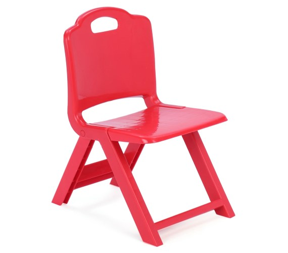 PP INFINITY Kids Foldable Chair With Cartoon Printed Foldable Chair For kids-(Red, Green)