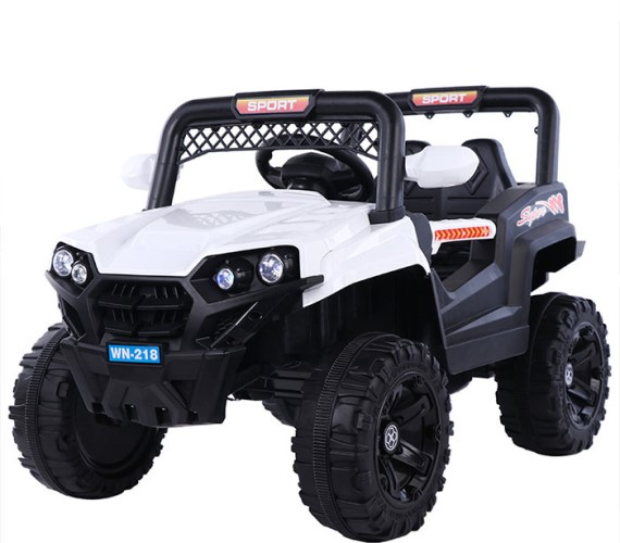 PP INFINITY  Kids Electric Jeep,  12V Battery Operated Ride on Jeep for Kids Age 1-7(WN-218)White
