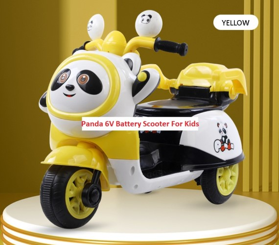 PP INFINITY Babybus Battery Panda Ride on Scooter for Kids, Electric Scooter for kids(2 to 5 yrs)Yellow