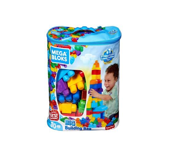 Fisher-Price Mega Bloks Big Building Bag, Multicolor (80 Bloks)