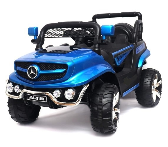 JM 2188 Battery Operated Ride on Jeep for Kids With Remote Control (Metallic Blue)