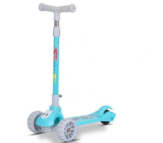 Big wheels pedal kick scooter For Kids, 3 wheel Foldable Kids kick scooter, kids kick scooters-Multicolor