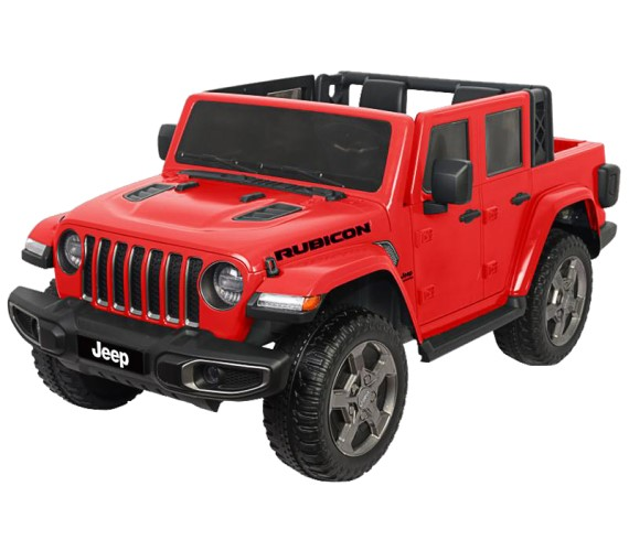 12 Volt Licensed Rubicon Jeep Gladiator Battery Ride on Jeep Vehicle Gray for Kids Age 2-7