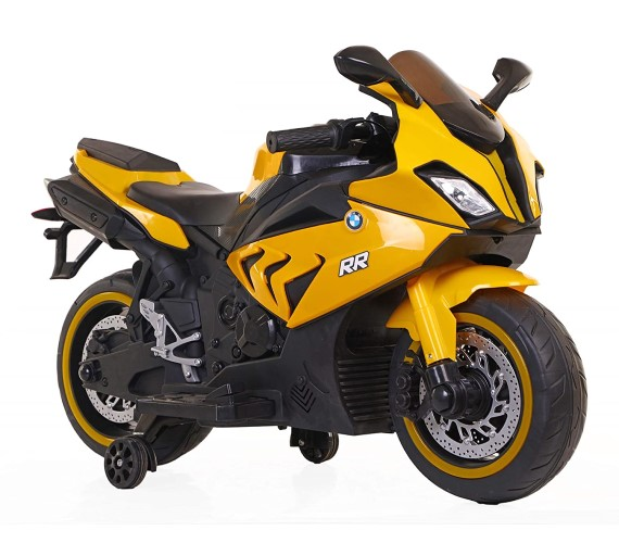 Kids BMW S1000RR Super bike Rechargeable Battery Operated Ride on Bike for Kids, Hand Accelerator(3 to 8 years) Yellow