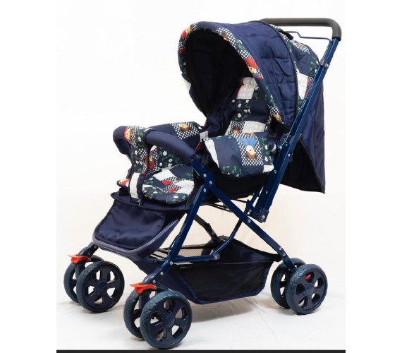 PP INFINITY Baby Pram Kids Stroller, Baby Stroller Pram For New Born Baby Blue Color Twin Strollers & Prams(Multi, Blue)