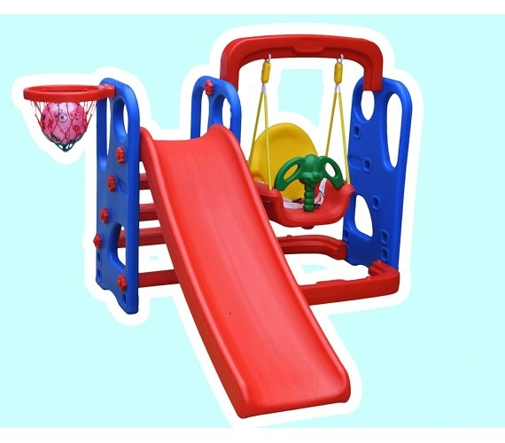 Garden Slider & Swing Combo with Two Slope Options For Boys and Girls (Wavy Slide & Swing Combo)