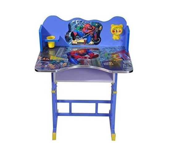Wooden and Metal Study Table & Chair (Disney Cartoon)