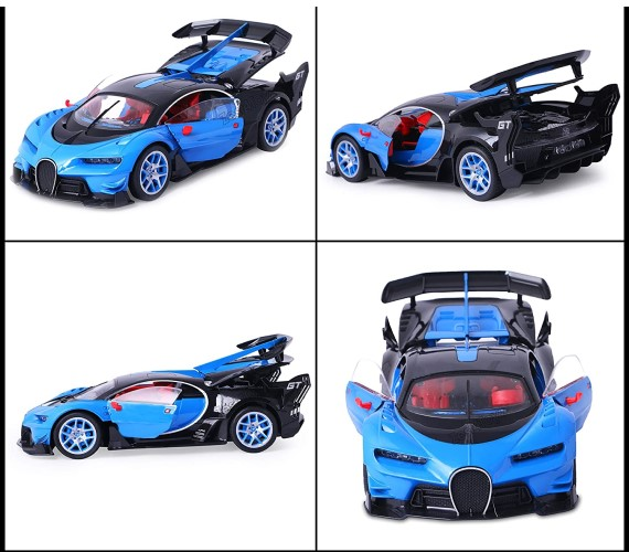 Bugatti Remote Control Car For Kids ,Battery Rechargeable Car with opening doors - Blue