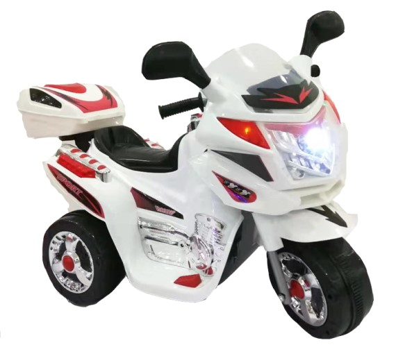 Mini Police Bike For Kids, Battery Operated Ride On Bike For Kids(White)