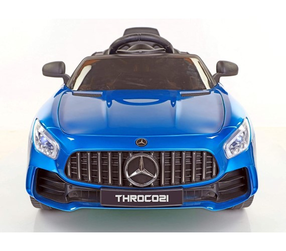 998 AMG Battery Operated Ride On Car For Kids With Remote Control and Music System (Metallic Blue)