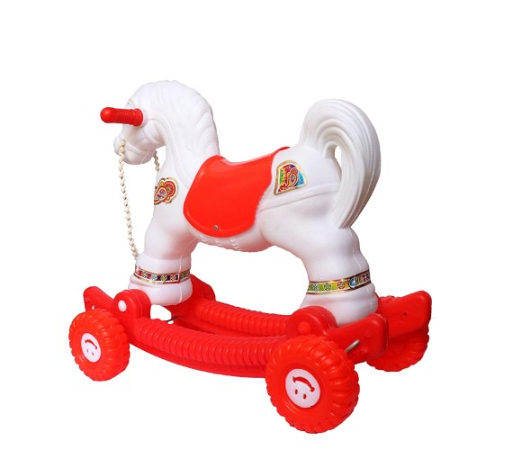 PP INFINITY Baby Ride and Rocker Horse for Kids, 2 in 1 Function Plastic seat Baby Horse (Age 1 to 3)