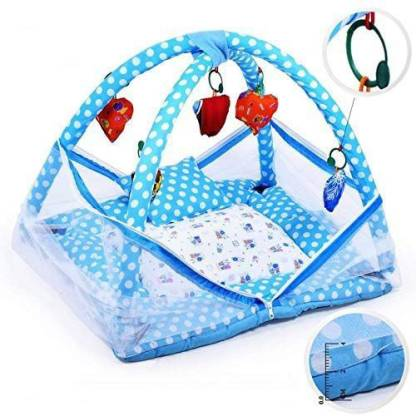 King size Bed for Infant Baby Gym and Mosquito Net.