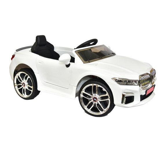 PP INFINITY 12V Battery Operated Ride On Car For Kids With Remote Control Lights And Music 1 to 5 yrs, Model MKS-003(Made in India)-White