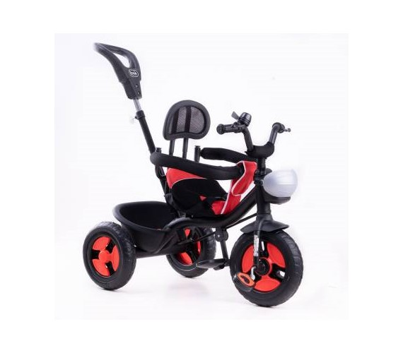 R1 3 in 1 Tricycle For Kids, Baby Tricycle For 1-4 Years With Rubber Wheels, Baby Tricycle Parental Control Handle(Red)