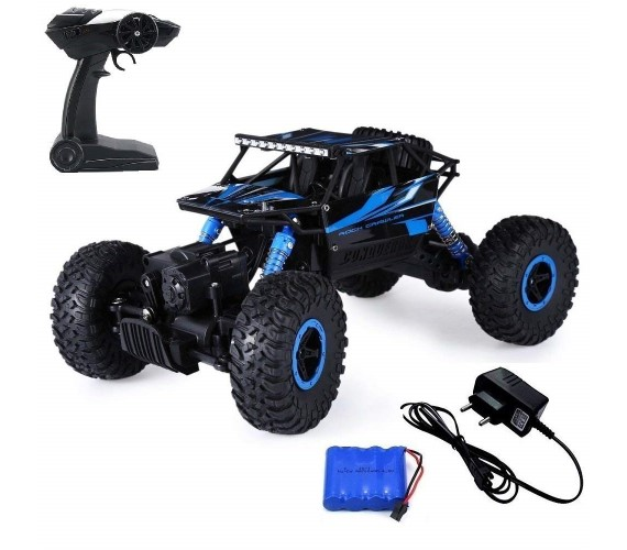 Remote Control Car for Kids , 4x4 RC Toys Monster Truck for Kids(Blue)
