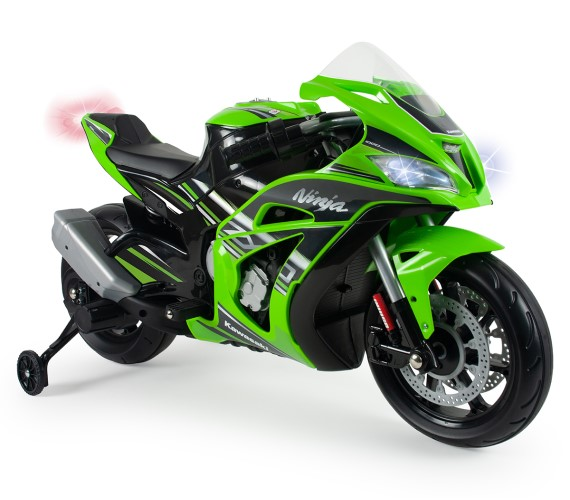 Ninja ZX-10 Sports Battery Operated Ride On Bike For Kids, Hand Accelerator with Music System (Green)