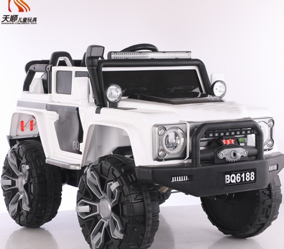 PP INFINITY Land Tiger Defender Children Kids Ride on Electric car Jeep with Remote Control Jeep For Kids (White)