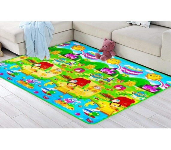 PP INFINITY Water Proof Polyester Baby Play Mat  (Multicolor, Large)