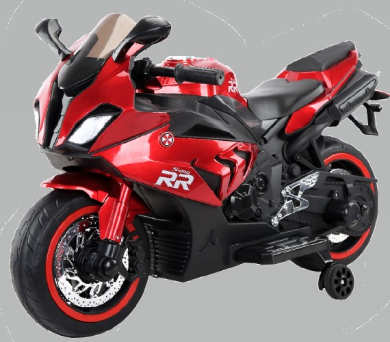 Kids BMW S1000RR Super bike Rechargeable Battery Operated Ride on Bike for Kids, Hand Accelerator(3 to 8 years)Metallic Red