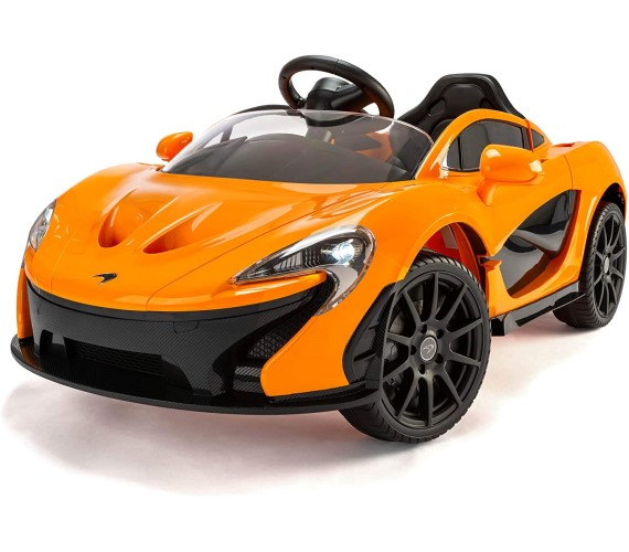 Mclaren Battery Ride On Car For Kids with Remote Control , Battery Operated Car For Kids Age 2 to 7 (Light Orange)