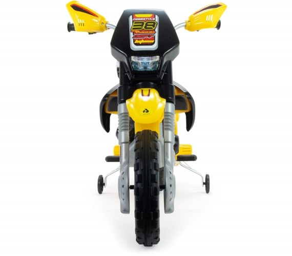 12V Electric Bike For Kids with Hand Accelerator and Music Battery Operated Ride on Bike-Yellow