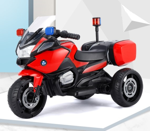 PP INFINITY Kids BMW Mini Police  Battery Operated Ride on Bike for Kids, Electric Bike for kids(1 to 4 yrs)Multicolor