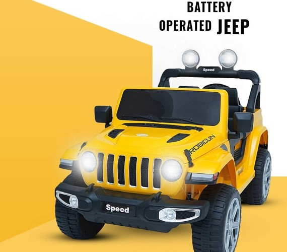 PP INFINITY Rubicon (copy) 12V  Electric  Battery Operated Ride On Jeep For Kids With Remote Control - Yellow