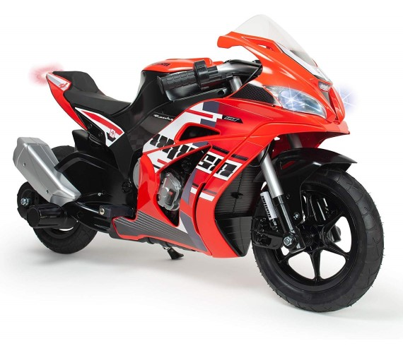 Racing Fighter 24V Battery Operated Ride On Bike For Kids, Hand Accelerator with Music System (Red)