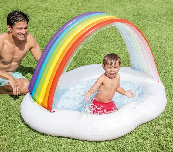 PP INFINITY Rainbow Cloud Inflatable Swimming Pool For kids(Multicolor)